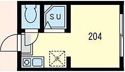 神奈川県川崎市川崎区大島上町の賃貸アパートの間取り
