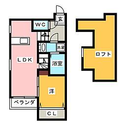 Stage井尻Ex[1階]の間取り