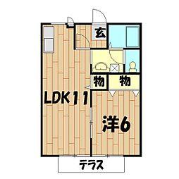 中央公園(壱・弐番館)[1-102号室]の間取り