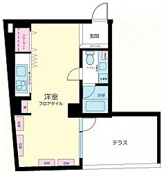 東京都目黒区駒場1丁目の賃貸マンションの間取り
