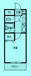 メゾラック諏訪[1階]の間取り