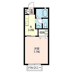 パステルハウスA[2階]の間取り