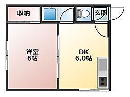 サンホームマンション美奈川[305号室]の間取り