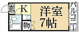 りぶ京都北大路[4階]の間取り
