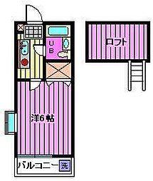 埼玉県さいたま市南区辻2丁目の賃貸アパートの間取り