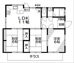 サンマドカ[1階号室]の間取り