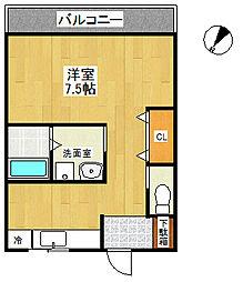 ヨコタビル[203号室]の間取り