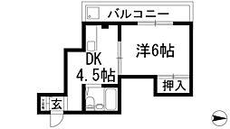 サニーコート石橋[4階]の間取り
