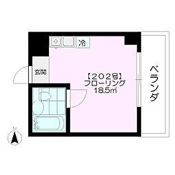 F BOX HOUSE[202号室]の間取り