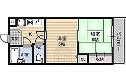 エクセレント関目2山崎マンション 3階2Kの間取り