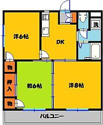 ロワールレジデンス6番館[3階]の間取り