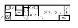 藤井寺大発マンション[215号室号室]の間取り