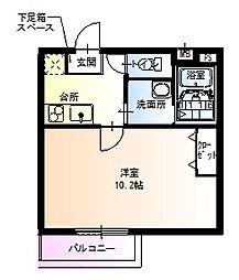 大阪府堺市東区白鷺町1丁の賃貸アパートの間取り