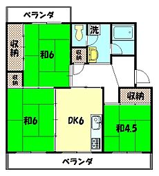 東大路高野第2住宅3棟[506号室]の間取り