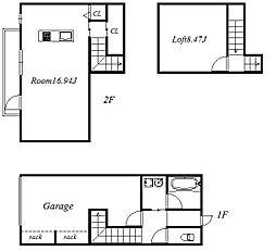 G・ROSSO B棟[2階]の間取り