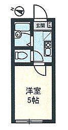 イル川崎大師[204号室]の間取り