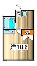 新田第1ビル[202号室]の間取り