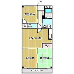 愛知県名古屋市港区当知4丁目の賃貸マンションの間取り