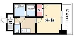 エスリード大須観音プリモ 9階1Kの間取り
