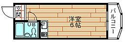 シャンクレール南堀江[3階]の間取り