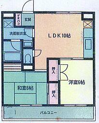神奈川県横浜市金沢区富岡東5丁目の賃貸マンションの間取り