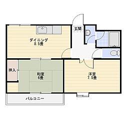 ペガソス熊谷[8階]の間取り