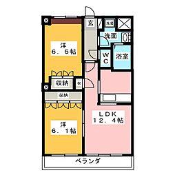 Miura Mansion[4階]の間取り