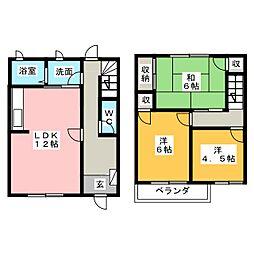 [テラスハウス] 静岡県富士市増川新町 の賃貸【/】の間取り