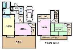 [テラスハウス] 埼玉県さいたま市緑区大谷口 の賃貸【/】の間取り