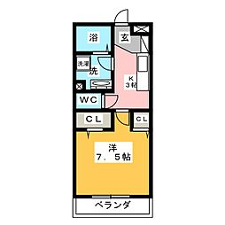 Pia KUSANAGI[3階]の間取り
