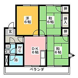 コーポ倉知[2階]の間取り