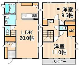 [一戸建] 東京都足立区東伊興2丁目 の賃貸【/】の間取り