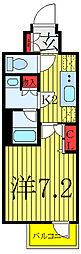 N-STAGE AKABANESHIMO 6階1Kの間取り
