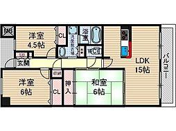 KDXレジデンス茨木2[3階]の間取り