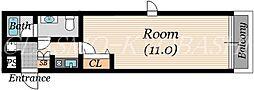 フロム城東[3階]の間取り
