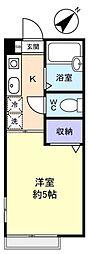 ジュネス稲荷台[2階]の間取り