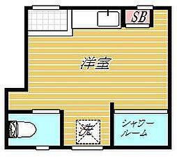 大島参番館アパート[1階]の間取り