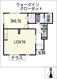 愛知県名古屋市守山区苗代1丁目の賃貸アパートの間取り