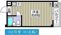 アミニティ吉永[302号室]の間取り