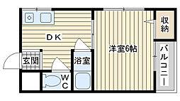 第5摂津ハイツ[305号室]の間取り