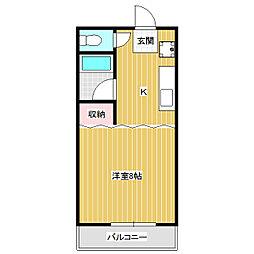 ハイツ中澤[1階]の間取り
