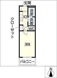 コーポラスウィング[1階]の間取り