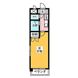 サンヴィエール神山[3階]の間取り