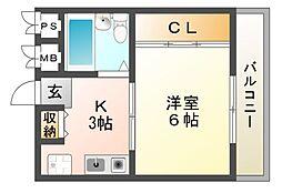 パーシャルUNO[2階]の間取り