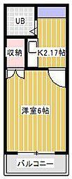 新松戸ライトフラッツ[1階]の間取り