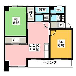 パラシオン 町田[3階]の間取り