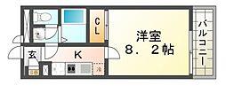 クレイノコンフォール杭瀬北新町[1階]の間取り