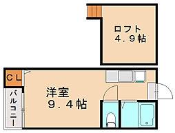 トトロ1号館[2階]の間取り