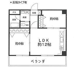 エターナル三宅[702号室]の間取り