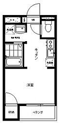 三田パークコート[103号室号室]の間取り